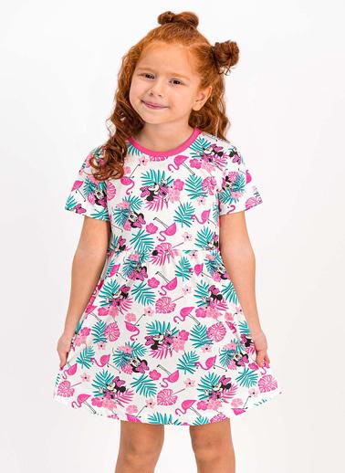 Minnie Mouse  Lisanslı Turuncu Kız Çocuk Homewear Elbise Pembe